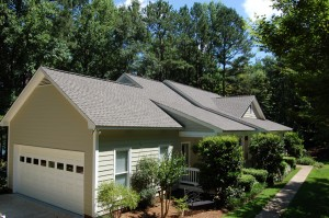 25 Year Stain Guard warranty only from GAF on Timberline HD Ultras architectural shingles.